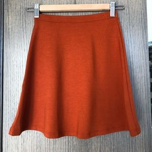 NWT Mini Skater Skirt Umber / Pumpkin